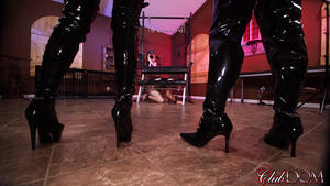 Club Dom: Jamie Valentine & Olivia Boot Worship